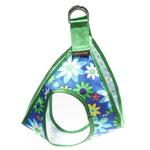 View Image 3 of Picnic Dog Harness by Gooby - Blue Flower