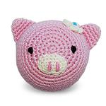 View Image 1 of Piggy Crochet Ball Dog Toy by Dogo