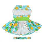 View Image 3 of Pineapple Luau Dog Harness Dress with Leash by Doggie Design