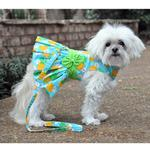 View Image 5 of Pineapple Luau Dog Harness Dress with Leash by Doggie Design