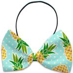 View Image 1 of Pineapples and Polka Dots Dog Bow Tie