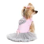 View Image 2 of Pink and Gray Heart Pet Dress by Pawpatu