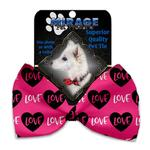 View Image 2 of Pink Love Dog Bow Tie