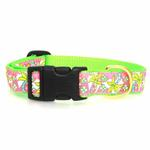 View Image 2 of Pink Palms Dog Collar by Up Country