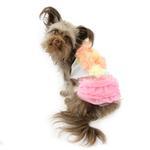 View Image 1 of Pink Ruffles Dog Dress by Parisian Pet
