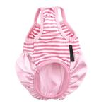 View Image 2 of Pink Satin and Striped Tank Dog Dress by Parisian Pet