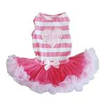 View Image 1 of Pink and White Stripes Pet Dress by Pawpatu