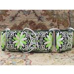 View Image 2 of Pinwheel Wide Martingale Dog Collar by Diva Dog - Dutch Spring