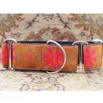 View Image 2 of Pinwheel Wide Martingale Dog Collar by Diva Dog - Mexicali Sunset