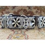 View Image 2 of Pinwheel Wide Martingale Dog Collar by Diva Dog - Norway Winter