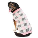 View Image 1 of Piper's Plaid Dog Sweater - Pink