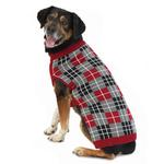 View Image 1 of Piper's Plaid Dog Sweater - Red