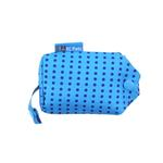 View Image 4 of Pitter Patter Packable Dog Rain Poncho - Cyan Halftone