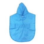 View Image 2 of Pitter Patter Packable Dog Rain Poncho - Cyan Halftone