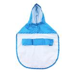 View Image 3 of Pitter Patter Packable Dog Rain Poncho - Cyan Halftone