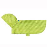 View Image 1 of Pitter Patter Packable Dog Rain Poncho - Lime Halftone