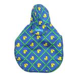 View Image 2 of Pitter Patter Packable Dog Rain Poncho - Rubber Ducky