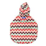 View Image 2 of Pitter Patter Packable Dog Rain Poncho - Sweet Sorbet