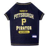 View Image 1 of Pittsburgh Pirates Dog T-Shirt - Black