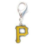 View Image 1 of Pittsburgh Pirates Logo Dog Collar Charm
