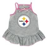 View Image 1 of Pittsburgh Steelers Dog Dress - Gray