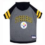 View Image 1 of Pittsburgh Steelers Hooded Dog T-Shirt
