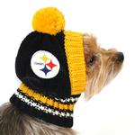 View Image 2 of Pittsburgh Steelers Knit Dog Hat