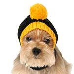 View Image 3 of Pittsburgh Steelers Knit Dog Hat