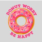 View Image 2 of Donut Worry Be Happy  Dog Shirt - Gray