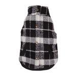 View Image 1 of Plaid Boucle Dog Jacket - Black and White