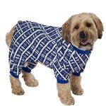 View Image 1 of Plaid Dog Pajamas - Blue