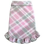 View Image 1 of Plaid Dog Pullover Dress by I See Spot - Pink and Gray