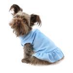 View Image 3 of Plain Dog Dress - Baby Blue