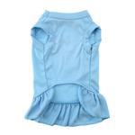 View Image 2 of Plain Dog Dress - Baby Blue