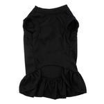 View Image 3 of Plain Dog Dress - Black