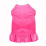 View Image 1 of Plain Dog Dress - Bright Pink
