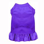 View Image 1 of Plain Dog Dress - Purple