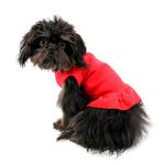 View Image 2 of Plain Dog Dress - Red