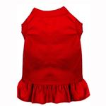 View Image 1 of Plain Dog Dress - Red