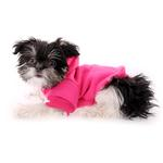 View Image 4 of Plain Dog Hoodie - Bright Pink
