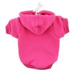 View Image 1 of Plain Dog Hoodie - Bright Pink