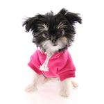 View Image 3 of Plain Dog Hoodie - Bright Pink