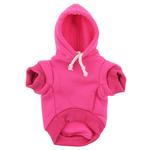 View Image 2 of Plain Dog Hoodie - Bright Pink