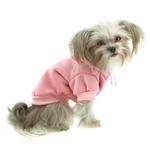 View Image 2 of Plain Dog Hoodie - Pink