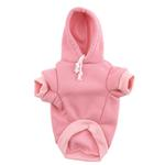View Image 4 of Plain Dog Hoodie - Pink