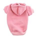 View Image 3 of Plain Dog Hoodie - Pink