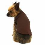 View Image 3 of Plain Dog Shirt - Brown