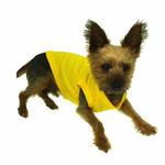 View Image 4 of Plain Pet Shirt - Yellow