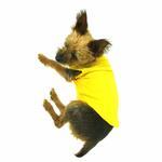 View Image 3 of Plain Dog Shirt - Yellow