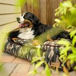 View Image 2 of P.L.A.Y. Camouflage Lounge Dog Bed - Green